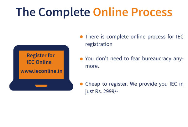 complete Online process, IEC Registration